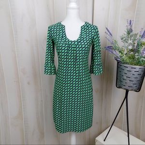 Jude Conally Green Patterned Long Sleeve Dress
